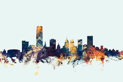 Cityscape Digital Art - Oklahoma City Skyline by Michael Tompsett