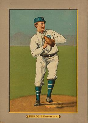 Baseball Card Painting - Old Baseball Card by FL collection