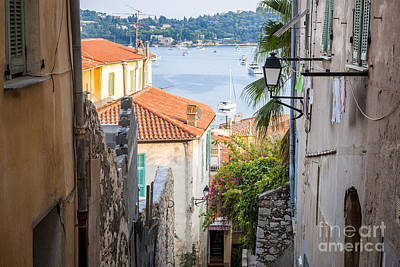 Rooftop Photograph - Old Street In Villefranche-sur-mer by Elena Elisseeva