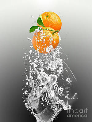 Orange Splash Print by Marvin Blaine