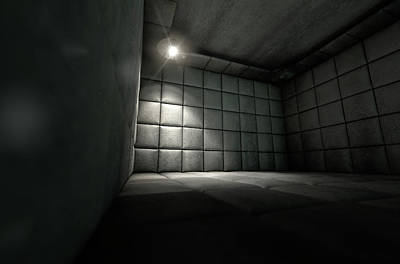 Padded Cell Dirty Spotlight Print by Allan Swart