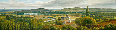 Rousseau Painting - Panoramic View Of The Ile De France by Theodore Rousseau
