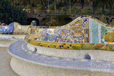 Barcelona Mixed Media - Park Guell by Svetlana Sewell