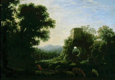 Rustic Painting - Pastoral Landscape by Claude Lorrain