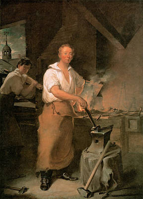 Black Boots Painting - Pat Lyon At The Forge  by John Neagle