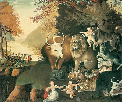 Buffalo River Painting - Peaceable Kingdom by Edward Hicks