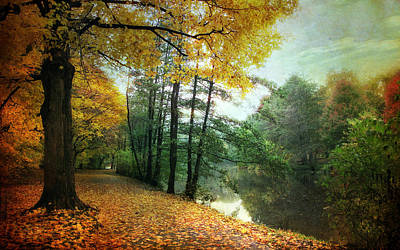Lanscape Digital Art - Peaceful Path by Jessica Jenney