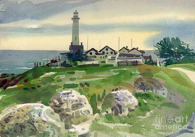 Pigeon Painting - Pigeon Point Light by Donald Maier