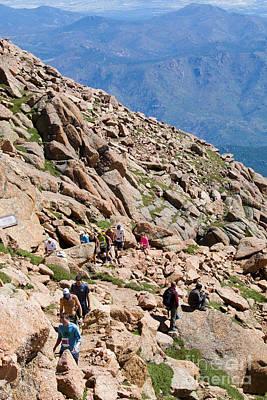 Pikes Peak Marathon And Ascent Print by Steve Krull