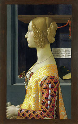 Profile Painting - Portrait Of Giovanna Tornabuoni by Domenico Ghirlandaio