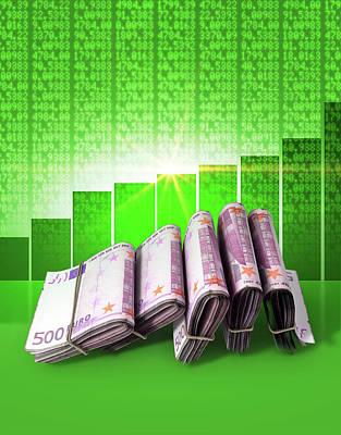 Forecast Digital Art - Positive Market Money by Allan Swart