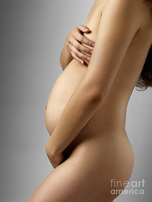 Nude Photograph - Pregnant Woman by Oleksiy Maksymenko