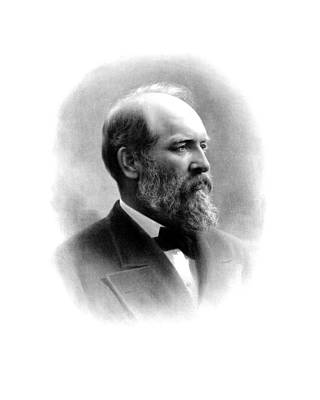 Historian Drawing - President James Garfield by War Is Hell Store