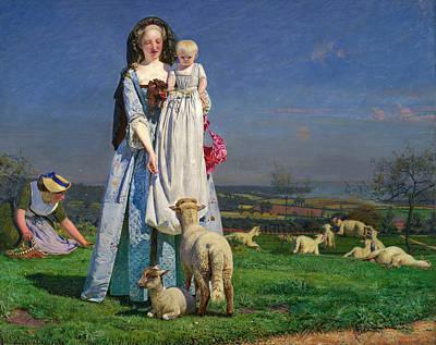 Pretty Baa-lambs Print by Ford Madox Brown