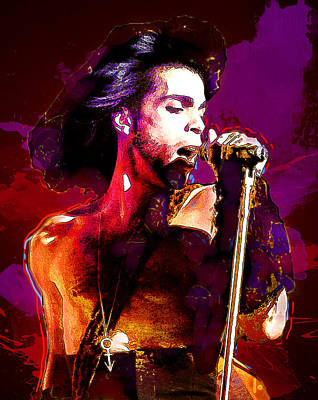 Singer Digital Art - Prince by Elena Kosvincheva