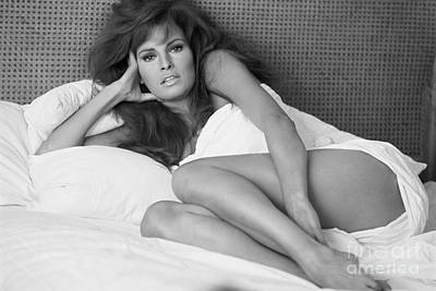 Black White Photograph - Raquel Welch by Terry O'Neill