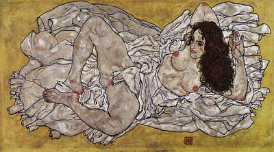Ladies Painting - Reclining Woman by Egon Schiele
