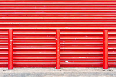 Night Workshop Photograph - Red Door by Tom Gowanlock