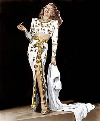 Sequin Photograph - Rita Hayworth, 1940s by Everett