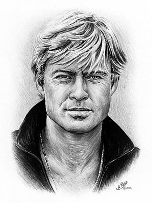 Icon Drawing - Robert Redford by Andrew Read