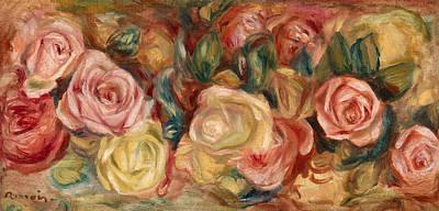 Pierre-auguste Renoir Painting - Roses by Pierre-Auguste Renoir
