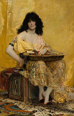 Female Painting - Salome by Henri Regnault