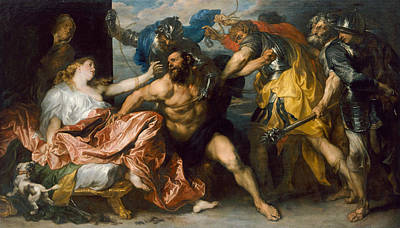 Hair Painting - Samson And Delilah by Anthony van Dyck