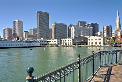 San Francisco Skyline And Promenade California. Original by Gino Rigucci