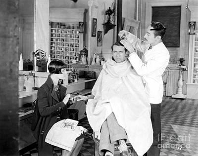 Photograph - Silent Still: Barber Shop by Granger