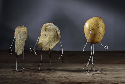 Simple Things - Potatoes Print by Nailia Schwarz