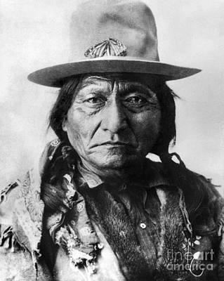 Photograph - Sitting Bull (1834-1890) by Granger