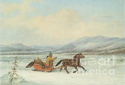 Sleigh Ride Print by Frederick Holiday