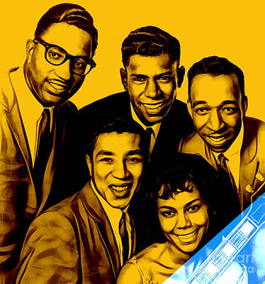 Smokey Robinson And The Miracles Print by Marvin Blaine
