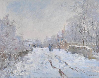 Blizzard Painting - Snow At Argenteuil by Claude Monet