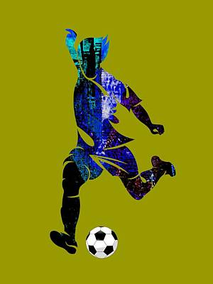 Soccer Mixed Media - Soccer Collection by Marvin Blaine