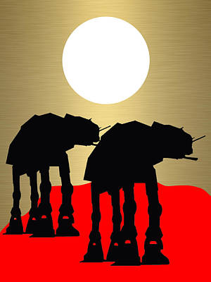 Science Fiction Mixed Media - Star Wars At-at Collection by Marvin Blaine
