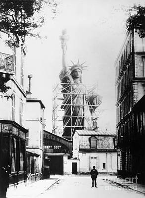 Construction Photograph - Statue Of Liberty, Paris by Granger
