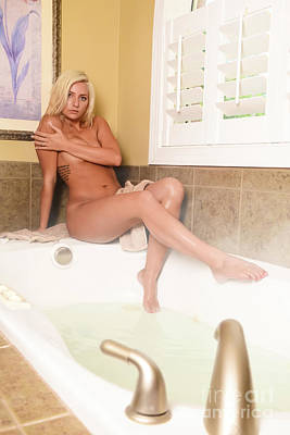 Washing Hair Photograph - Steam Bath by Jt PhotoDesign
