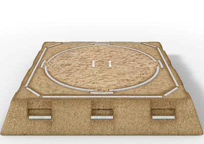 Sumo Digital Art - Sumo Wrestling Ring by Allan Swart
