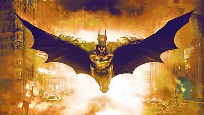 Batman Digital Art - Superman Vs Batman Print by Egor Vysockiy