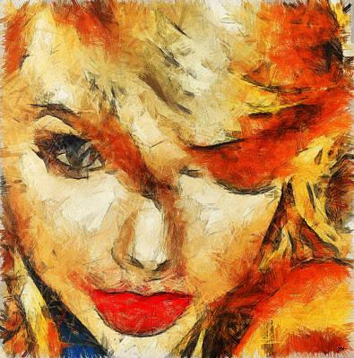 Taylor Swift Painting - Taylor Swift Painting On Canvas. by Sir Josef Social Critic - ART