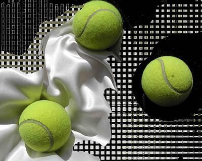 3 Tennis Balls Print by Evguenia Men