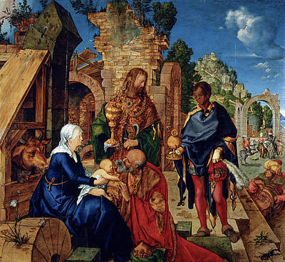 Nativity Painting - The Adoration Of The Magi by Albrecht Durer