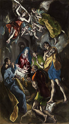 Jesus Painting - The Adoration Of The Shepherds by El Greco