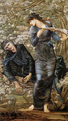 The Beguiling Of Merlin Print by Edward Burne-Jones