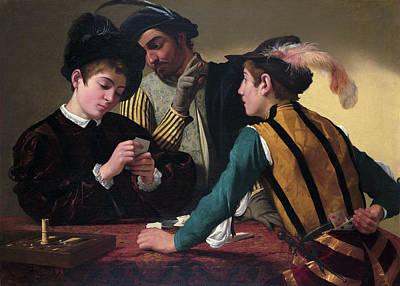 The Cardsharps Print by Caravaggio