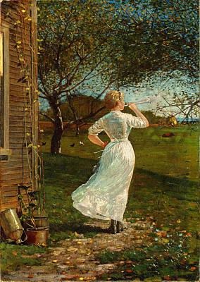 Dinner Painting - The Dinner Horn by Winslow Homer