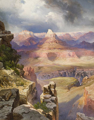 Ravine Photograph - The Grand Canyon by Thomas Moran