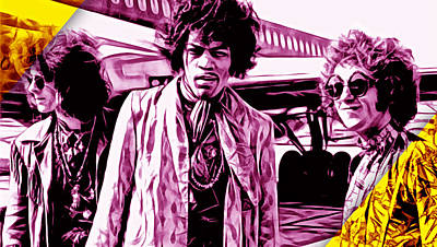 Rock And Roll Mixed Media - The Jimi Hendrix Experience Collection by Marvin Blaine