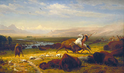 Great Outdoors Painting - The Last Of The Buffalo by Albert Bierstadt